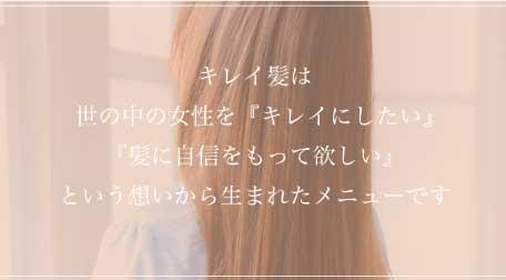 キレイ髪メニュー